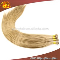 Full Cuticle Double Drawn 613# 20'' Silky Straight Individual Silk 200 Strands I-tip Hair Extension