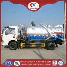 DFAC 4x2 industrial sewer cleaning suction truck and multifunctional