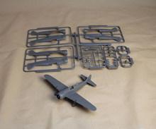 1/43 sacle plastic model aircraft
