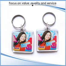 High Quality Widely Use round clear acrylic keychain