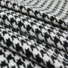 2014New Arrival Imports of black and white Houndstooth Woollen cloth coat / / autumn/winter fashion fabrics