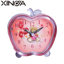 apple shape alarm clock with glass