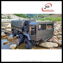 wholesale alibaba 6X6 Military Off Road 6WD 1/10 Scale Tractor Truck Rock Crawler KIT Cross RC
