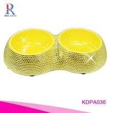 Crystal Stainless Pet Dog bowl Food Water Bowl
