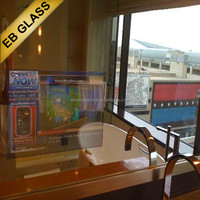 World Polular high brigtness washroom advertising led glass tv eb brand