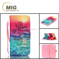 High quality IMD colored paiting for iphone 6s case with hand strap, flip mobile case/ cell phone cover for iphone 6s plus/ 6