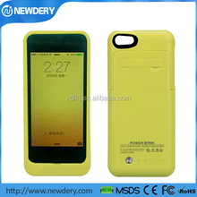 2200mah External backup battery power charger case for iphone 5 5s 5c