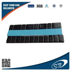 Iron Black powder coating sticker wheel balance weight/motorcycle wheel balance weight type wheel balancing weight