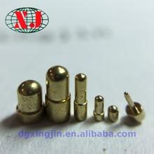 Lathe machining assembly brass spring loaded pogo pin