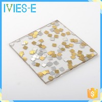 High light transmission special combined small iron sheets polyresin decorative hall partition