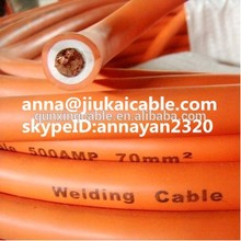 240mm2 orange double insulation PVC welding cable, heavy duty welding cable, Rubber welding cable TUV VDE