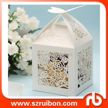 Wedding Favor Flower Creative Hollow out Gift Box Candy Chocolate Box Hollow Paper Packaging Box