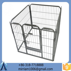 2015 New design fashionable powder coating high quality low price wrought iron large strong outdoor dog kennels