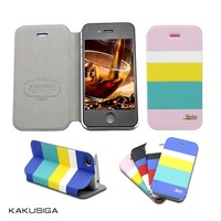 KAKU leather phone case protective case for iphone 4