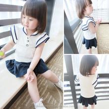MS64053C summer school style baby girls plain t-shirts