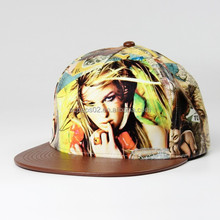 sex/sexy girl image blank faux leather strap back hat