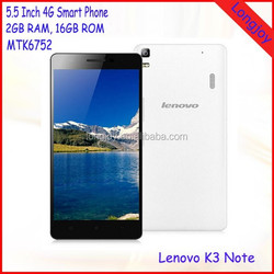 Original Lenovo K3 Note 4G LTE Smartphone 5.5 inch MTK6752 1.7GHz Octa Core Android 5.0 Ram 2GB Rom 16GB Mobile Phone