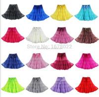 DS057 New Arrival 2015 Women Colorful Knee Length Sexy Tulle Short Skirt Petticoat Rockabilly Pettiskirt Tutu Skirt Slip