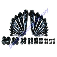 DAR-HS Wholesale Checkout Marble Ear Tunnel Plug Taper Jewelry