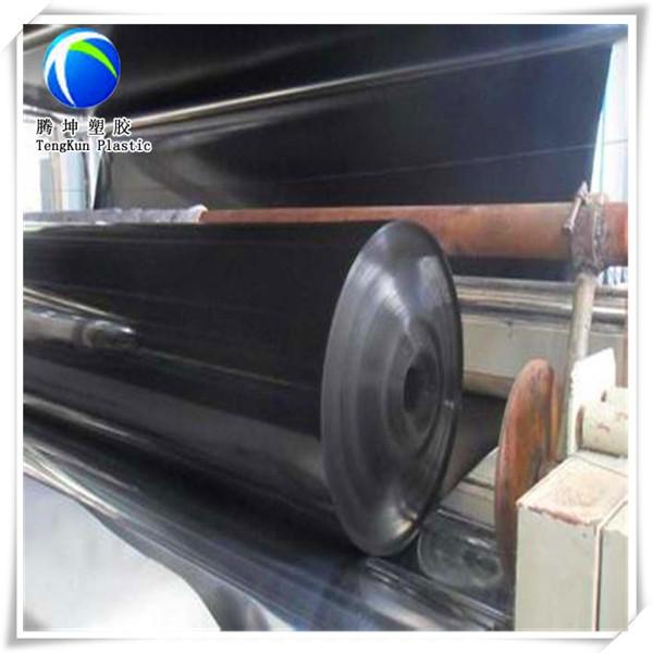 Haute qualit custom noir rouleau g omembrane b che for Bache geomembrane