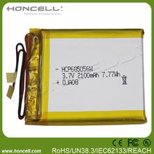 Lipo battery 2100mah 685056 small size high capacity lipo battery protected lipo