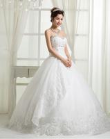 RR2689 2012 beautiful white corset ruffle organza puffy skirt ball gown wedding dress
