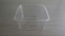 7oz clear PET rectangular plastic food container