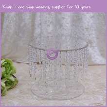K7422 2015 Crystal wedding cake stands , metal stand hanging crystals for weddings cakes