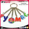 Wholesale souvenir alphabet metal key chain
