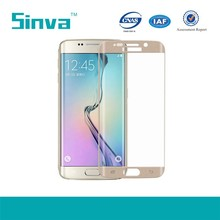 For samsung galaxy s6 factory price accessories Curved Edge full coverage tempered glass screen protector S6 edge