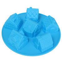 New Arrival High-end Silicone 3D House Baking Cake Chocolate Soap Candy Jelly Ice Mold Mould Pan Tray