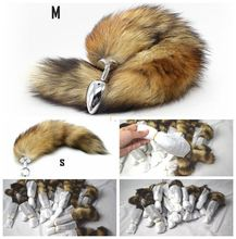 2.9cm Diameter Evalley SEX TOY, Metal Anal Plug Fox Tail Butt Plug for Sex or Cosplay