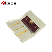 Off White Simple Smooth Leather banknotes and credit cards wallet