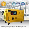 Low fuel consumption 10kva portable generator with three phase alternator