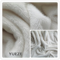 100% polyester knitted plush toy fabric fur fabric making soft toys