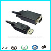 High definition displayport 1.2 male to vga male notebook cable