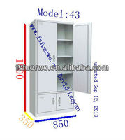 Hot selling and modern style metal living room furniture partition cabinet with 4 doors