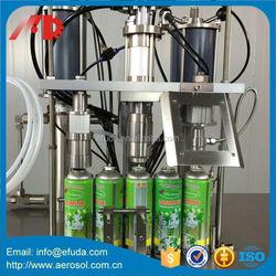 Hot-sale semi- automatic aerosol filling machine aerosol canned pu foam sealant