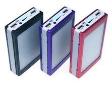 Universal high quality travel Waterproof Emergency 5000mah solar portable power bank with dual USB
