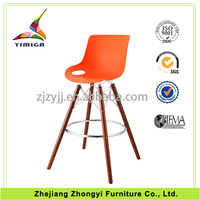Modern high quality wood frame customized made plastic kitchen stools