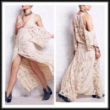 Beautiful Floral Applique Sheer Mesh Inserts Throughout Maxi Expensive Wedding Dress Guangzhou NT6443