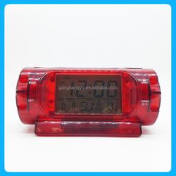 Calendar talking LED fashion alarm clock,tower clock