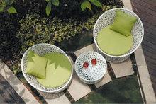 hand knit weaving plastic rattan sofa set furniture / garden leisure sofa set