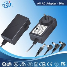CCTV camera 18V 2A switching power adapter with CUL C-Tick CE CCC GS PSE