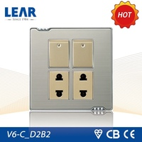 Classic design Metal plate function of socket outlet