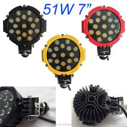 "51w Round LED light 7"" spot Work off road fog driving roof bar bumper 4x4 utv"