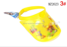 MZ2623 Promotional carton plastic fashion children sun visor caps