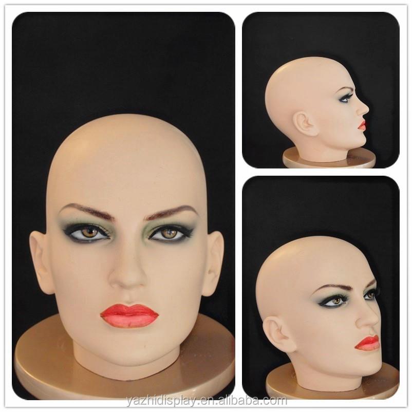 Манекен головы с макияжем