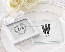 New Wedding Favors Table Decoration/ Personalized Glass Coaster