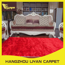 Softer 1200D silk plain color bedroom floor silk carpets
